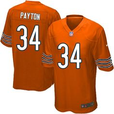 $79.99 Men's Nike Chicago Bears #34 Walter Payton Game Alternate Orange Jersey