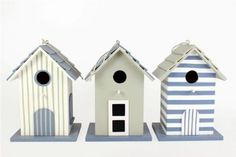 An attractive wooden housing for birds! Available in blue, grey and white each bird house is unique and colours/design will vary £6.99
