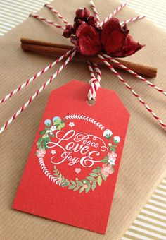 'VERY BERRY' CHRISTMAS GIFT TAGS - Paperknots