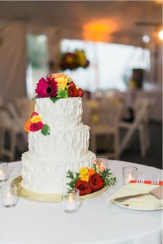 Wedding Cakes Worcester Ma Buttercream Cake With Bright Floral Accents Truly Make This Cake POP