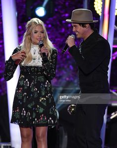 Actress Ashley Benson (L) and actor Tyler Blackburn accept the award for Feels Freak Out of the Year for 'Pretty Little Liars' during the MTV Fandom Fest San Diego Comic-Con at PETCO Park on July 9, 2015 in San Diego, California.