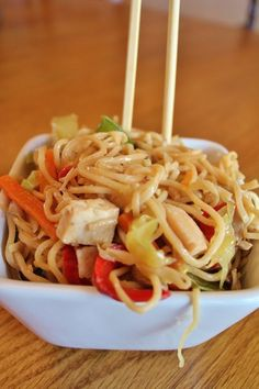 Chicke and Spring Veggie Lo Mein.