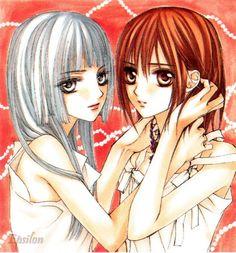 Vampire Knight - Yuki and Maria look so similar except for the hair colour ^^ Vampire Knight, Vampire Hunter, Yuki And Zero, Matsuri Hino, Yuki Kuran, Knight Art, Another Anime, Anime Life, I Love Anime
