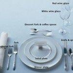 Proper table setting...