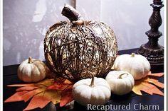 diy dollar store illuminated pumpkin, crafts, seasonal holiday d cor, wreaths, Dollar Store Illuminated Twine Pumpkin for under 10 Full Tutorial at recapturedcharm com