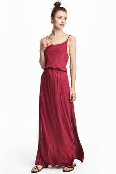 Vestido comprido - Framboesa - SENHORA | H&M PT 1