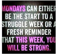 Mondays....