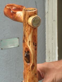 Diamond Willow Cane...inset natural handle, tiger eye insets, MT quarter inset…