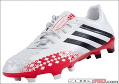 adidas Predator LZ TRX FG Soccer Cleats - White with Hi-Res Red...$197.99