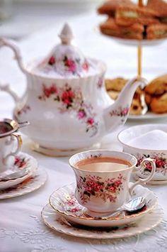 Add Duchy Originals shortbread to this simple, yet elegant tea setting.