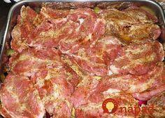 Ohnivá krkovička v marináde: Chystajte si najväčší plech, toto je neskutočná pochúťka! Slovak Recipes, Meat Recipes, Chicken Recipes, Cooking Recipes, Grilling Recipes, Salty Foods, Flatbread Pizza, What To Cook, Food 52