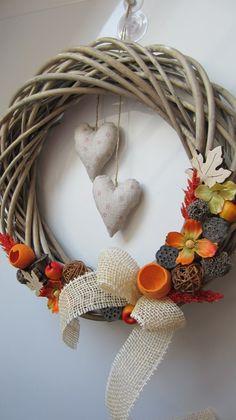Velká podzimní romantika Autumn, Fall, Grapevine Wreath, Grape Vines, Wreaths, Decor, Doors, Homemade, Decoration