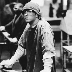 Eminem from a scene in 8 mile. Must watch that movie! If you haven't seen it yet, you have to watch it.