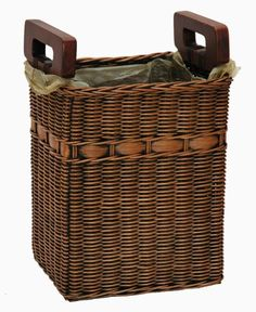 Large Wicker Laundry Hamper In Black Your Pick Of Liner