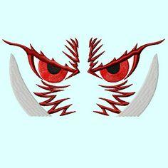 Wild Hog Eyes Embroidery Design