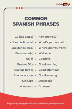 Here are some of the most useful and common Spanish phrases that you could start using today! Check out the article + get a free PDF! Useful Spanish Phrases, Spanish Help, Spanish Lessons For Kids, Preschool Spanish, Learning Spanish For Kids, Learn To Speak Spanish, Spanish Basics, Spanish Grammar, Spanish Language Learning