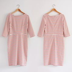 striped dress front and back
