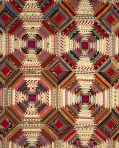 Quilt, 'Log Cabin' Pattern, 'Pineapple' variation   LACMA Collections