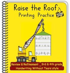 Handwriting Review & Refinement: Raise the Roof! Handwriti