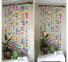 DIY Hanging Garland Decorations | Girls Bedroom Decor Ideas | Click for Tutorial - on the back of the back door in the laundry room