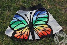 Applique Rainbow Butterfly Skirt