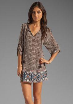 TOLANI Deepa Dress in Turq/Black Squares at Revolve Clothing - Free Shipping!