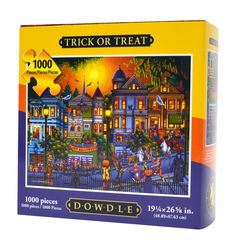 Wholesale Puzzles - Trick or Treat (Dowdle), $14.99 (http://www.wholesalepuzzles.com/artist-puzzles/eric-dowdle/trick-or-treat-dowdle/?utm_source=Wholesale Puzzles News