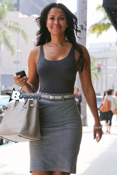   ... Tracey Edmonds, looks great while out in Beverly Hills running errands