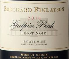 Bouchard Finlayson winemakers Chris Albrecht and Peter Finlayson will be celebrating and honouring World Pinot Noir Day on Saturday 18 August 2018 with a tasting of the award-winning Galpin Peak 2016. This vintage has received recognition world-wide, not only as South Africa's Best Pinot Noir, but also as South Africa's Best Red Wine (IWC - International Wine Challenge 2018). South African Wine, Best Red Wine, Old World Style, Red Fruit, Iwc, Pinot Noir, Fine Wine