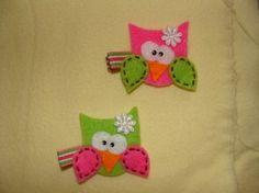 owl hair clips by darlene