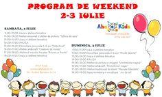 Vino in weekend la atelierele AHA Kids!