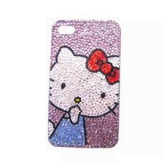 Handmade hard case for iPhone 4 4S & 5 Bling Kitty by CheersCases, $29.99