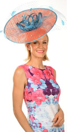Coral Pink Green Sinamay Fascinator with nets and feathers Fascinator is on a headband for secure fit , suitable for Race Days, Melbourne Cup and weddings. Coral Pink, Pink And Green, Melbourne Cup Fashion, Pink Fascinator, Race Day, Dresses, Vestidos, Dress, Gown