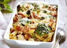 most popular chicken recipes - kip - Heerlijke meal Crispy Chicken Salads, Chicken Salad Recipes, Pasta Recipes, Dinner Recipes, Good Food, Yummy Food, Oven Dishes, Good Healthy Recipes, Risotto