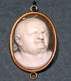 A Cameo With The Head Of Roman Emperor Vespasian (First Century AD) Seen At Imperial Rome, An Exhibition At Kunsthal Rotterdam