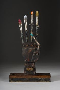 "David Barnett ""Finger Paint"" mixed media 11"" x 6"" x 14"" .37"