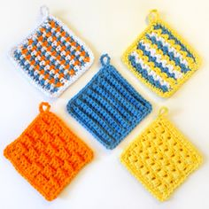 Crochet Pattern: Square Scrubbie Set