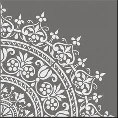 stencils from The Stencil Library. Buy from our range of Ottoman stencils online. Page 2 of our Ottoman motif stencil catalogue. Stencil Art, Stencil Designs, Mandala Stencils, Damask Stencil, Arts And Crafts, Paper Crafts, Diy Crafts, Craft Robo, Plotter Cutter