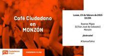 Café Ciudadano en Monzón, Lunes 23, 19:15h