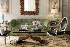 Salas com sofá de veludo | DECORAÇÃO E IDEIAS - design, mobiliário, casa e jardim