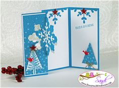 stampin Up Festival of Trees, card by Sandi @ www.stampingwithsandi.com