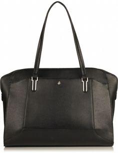 "Wigmore Slim Laptop Briefcase from KNOMO: Official Store | Women's 14"" Laptop Bag | Black Cherry Saffiano Leather Laptop Bag | Briefcase| De..."