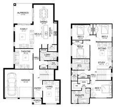 Bronte 33 - Double Level - Floorplan by Kurmond Homes - New Home Builders Sydney NSW