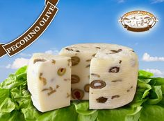 Fresh Pecorino cheese with olives  #sicilian #cheese #pecorino #olives #fromages #siicliens #formaggi #siciliani