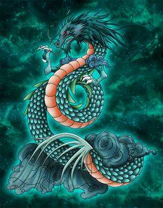 Tatouage Dragon Shiryu by ~Niiii-Link on deviantART
