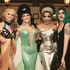 Courtney Act, Ben Delacreme, Bianca Del Rio, and Adore Delano
