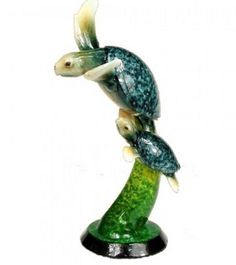 Natures Creations Sea Turtle Duo 11 inch Figurine D62038 Retired Tortuga #NaturesCreations