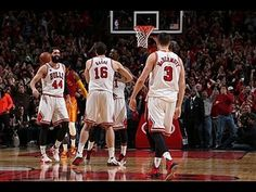 Jimmy Butler adjusts in mid-air to tip in the Pau Gasol alley-oop to win the game for Chicago in overtime! About the NBA: The NBA is the premier professional. Nba Basketball, Chicago Bulls, Espn, Butler, Indiana, Pacers Vs, Celebrities, Sports Teams, Game