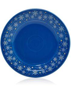 Macy's Exclusive Snowflake Luncheon Plate from Fiesta® Dinnerware in Lapis | macys.com