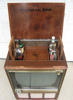 Lovely 1950u0027s TV Fitted With Bluetooth U0026 Liquor